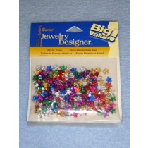 Metallic Star Bead Assortment 6mm 150 pcs