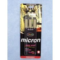Micron Pigment Ink Pens-Black Set_3