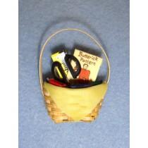 "Mini - Sewing Basket - 1 1_2"" high"