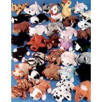 "Mini Bean Bag Animals - Approx 4"" Asst"