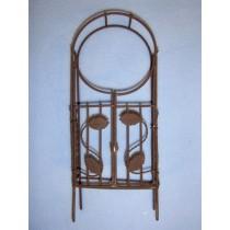 Mini Iron Fairy Garden Arch w_Gate - Rustic