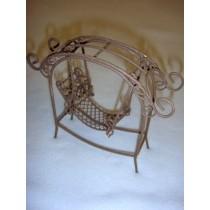 Mini Iron Fairy Garden Arch w_Swing - Rustic