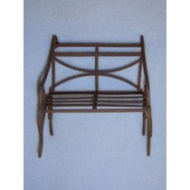 Mini Iron Fairy Garden Bench - Rustic