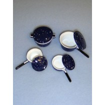 Miniature Blue Cookware Set