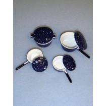 lMiniature Blue Cookware Set