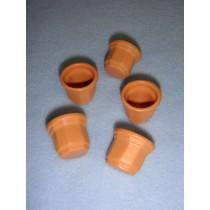 """Miniature Clay Pots - 3_4"""" high"""