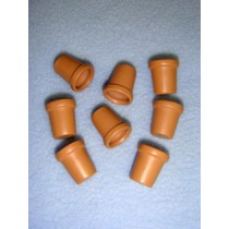 """Miniature Clay Pots - 5_8"""" high"""