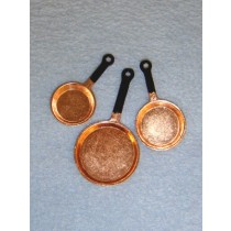 Miniature Copper Fry Pans