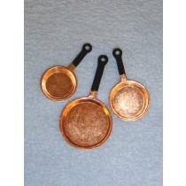 lMiniature Copper Fry Pans