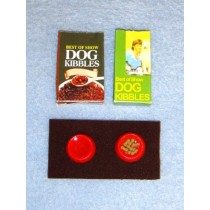 Miniature Dog Dishes, Mat & Food Bags