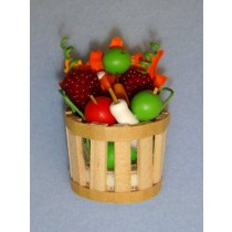 Miniature Fall Basket w_Fruits & Vegetables