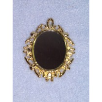 Miniature Gold Metal Mirror