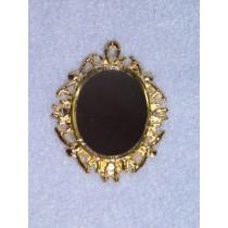 lMiniature Gold Metal Mirror