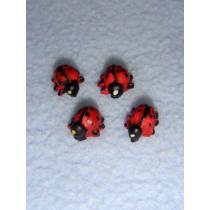 """lMiniature Ladybugs - 3_8"""" Resin"""