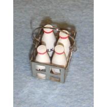 lMiniature Milk Crate & Bottles