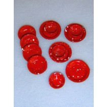 Miniature Red Plates & Bowls