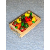 Miniature Vegetable Wood Crate