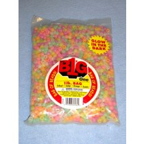 Multi Glow-In-The-Dark Pony Beads 9mm 1 lb
