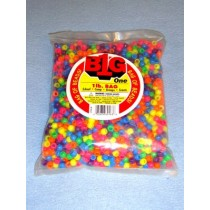Multi Neon Pony Beads 9mm 1 lb