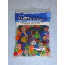Multi Trans Faceted Beads 12mm 144 pcs