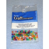 Multi Trans Faceted Beads 4mm 140 pcs