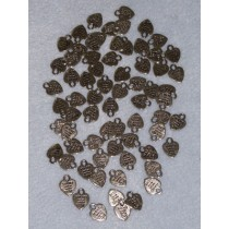 Nickel Cast Metal Charms - Handmade w_Love - Pkg 70
