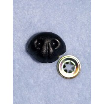 Nose - Bear - 25mm Black Pkg_100