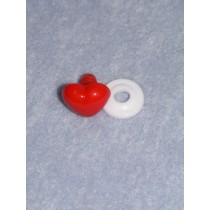 Nose - Heart -18mm Red Pkg_12