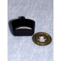 Nose - Leather-Look Oval - 30mm Black Pkg_50