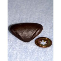 Nose - Leather-Look Triangle - 35mm Light Brown Pkg_6