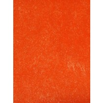 Orange Short Pile Fur Fabric 1 Yd