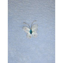 "Organza Butterflies - 1"" Light Blue Pkg_12"