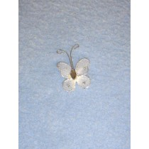 "Organza Butterflies - 1"" White Pkg_12"