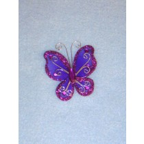 "Organza Butterflies - 2"" Purple Pkg_12"
