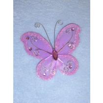 """Organza Butterflies - 3"""" Orchid Pkg_12"""