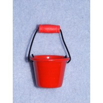 "Pail - 1"" Metal - Red"