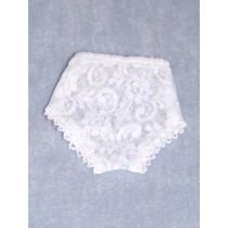 "Panties - Lace - 5 1_4"" White (Size 2)"