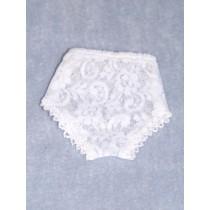 "Panties - Lace - 7 1_2"" White (Size 5)"