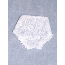 "Panties - Lace - 7 1_2"" White (Size 5)"