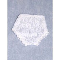 "Panties - Lace - 7 1_4"" White (Size 4)"
