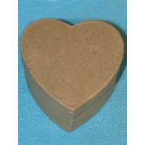 "Paper Mache - Heart Box - 3"""