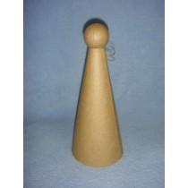 "Paper Mache Angel Cone - 9 1_2"""