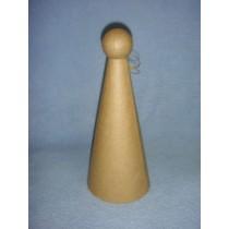 "lPaper Mache Angel Cone - 9 1_2"""