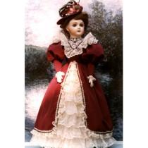 "Pattern - 1890's Style Dress 20-21"""