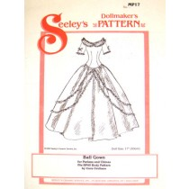 """Pattern - China Doll Ball Gown - 17"""" Doll"""