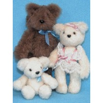 Pattern - Mini Bear Family  3-6""