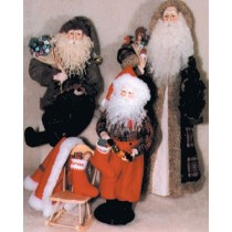 Pattern - Porcelain Santas