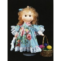 "Pattern - Rosebud 18"" Cloth Doll"