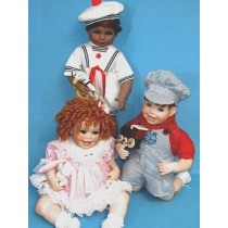 """Pattern - Toddler Trio for 19"""" Doll"""