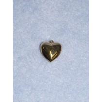 Pendant - 15mm Heart - Gold Pkg_6
